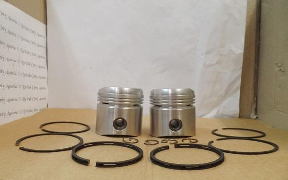 Ajs/Matchless 650cc Pistons/Pair STD. 8.5 to 1.