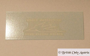 Triumph World Speed Record Holder Transfer f. Side Covers Tiger Cub 1966