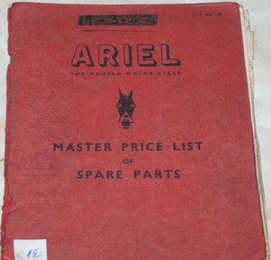 Ariel The master price list of spare parts