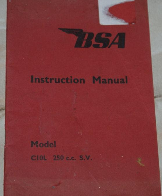 BSA Instruction manual, Model C10L 250cc c.c. S.V.