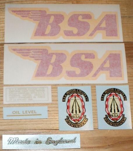 BSA Victor Special Transfer Set 1969
