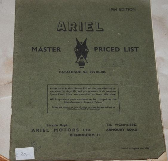 Ariel Master priced list