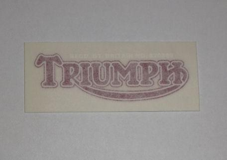 Triumph Sticker f. Rear Number Plate 1937 on