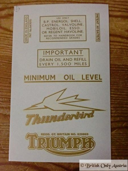 Triumph Transfer Set 1953 on