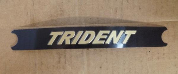 Triumph Trident Decal Black/Gold T150