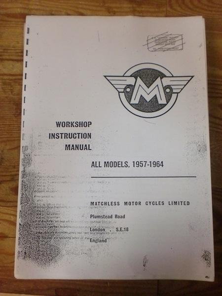 Matchless Workshop Manual-1957/64 Models