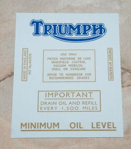 Triumph Transfer Set 1937 to 52 (3S,3H, 5H, 6S & 5T)