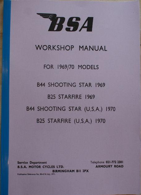 BSA Workshop Manual 1969/70