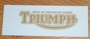Triumph Sticker Rear Number Plate Tiger Mod. 1937-70