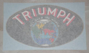 "Triumph Sticker ""All over the world"" red"