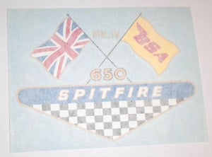 BSA Spitfire MKIV 650 Sticker for Side Panel 1968