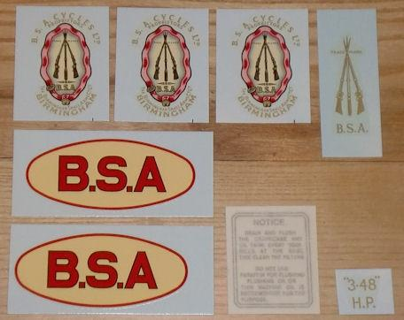 BSA R35 4 Transfer Set