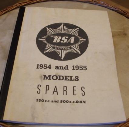 BSA Gold Star Spare parts Book 1954-1955