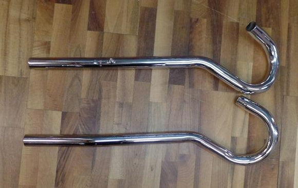 Bsa Blue Star High Level Exhaust Pipes - No Lug 1 3/4