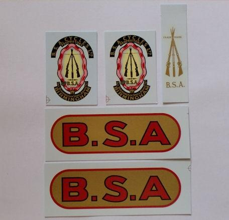 BSA M20 1937/1938 Transfer Set