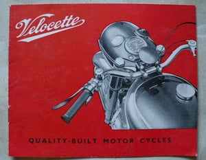 "Velocette ""Quality-Built Motor Cycles"" Brochure"