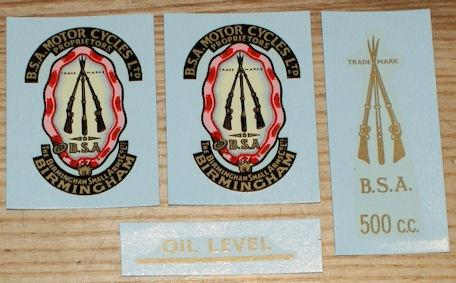 BSA A7 Transfer Set 1954/62