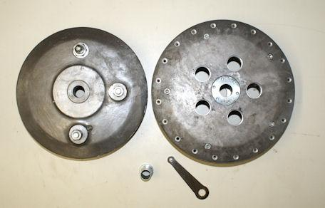 BSA Gold Star/A65  Front Brake with brake shoes 190 mm.