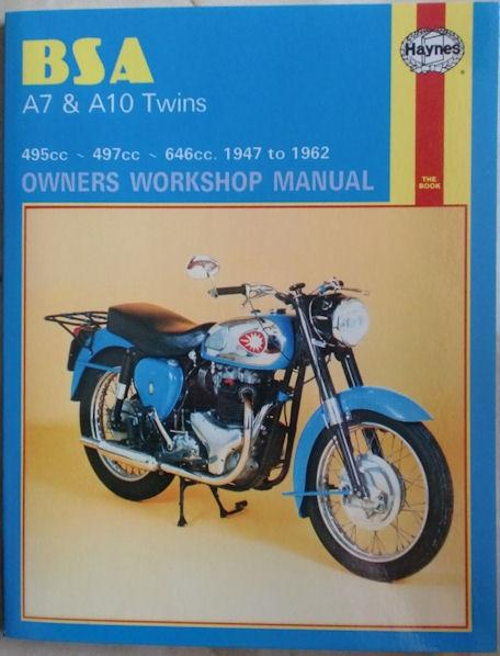 BSA A7 & A10 Haynes Twins Owners Workshop Manual 1947-1962
