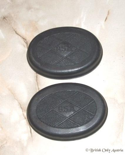 BSA Kneegrip Rubber 2- hole /Pair oval