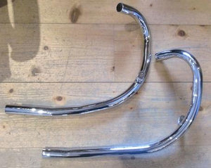 "BSA A7/Shooting Star Exhaust Pipes 500cc 1954-58 1 1/2"" /Pair"