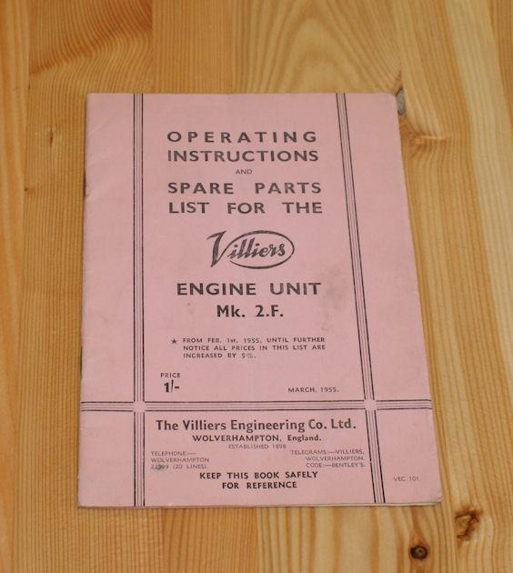 Villiers Operating Insturctions and spare parts list