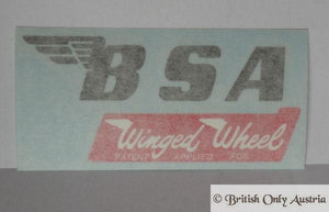 BSA Tank Sticker Winged Wheel