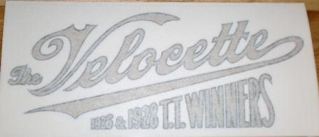 The Velocette 1926&1928 T.T. Winners Sticker