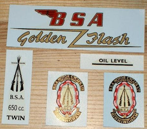 BSA A10 Transfer Set Gold Livery Golden Flash 1954-63