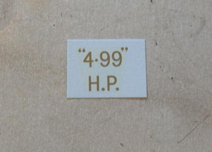 "BSA ""4.99"" H.P. Transfer for rear Number Plate 1932-36"
