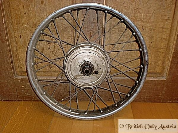 AJS/Matchless Rear Wheel 350/500/600/650 cc used, 1955- Dunlop Rim. 02-1561