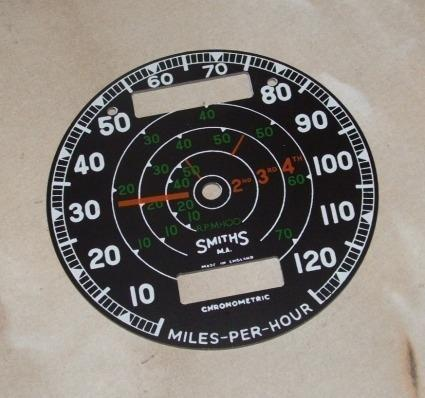 Smiths. Speedo Face Plastic 10-120MPH