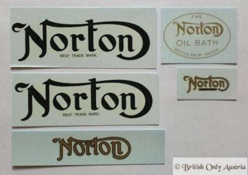 Norton Transfer Set Model 18/16H/Big Four 1934-1939