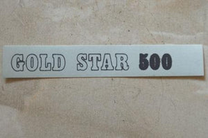 "BSA Transfer ""GOLD STAR 500"" for side cover 1971"