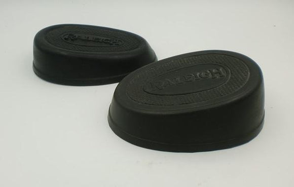 Raleigh oval Kneegrip rubbers / Pair, not exactly ident