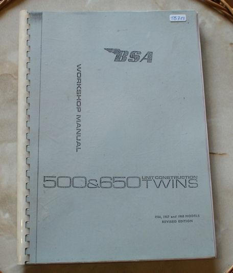 BSA 500 & 650 Unit Construction Twins, Workshop Manual