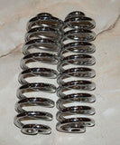 "Chrome seat springs 6"" /Pair"