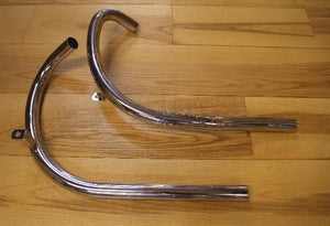 BSA Exhaust Pipes A10 S/Arm 1958-62 /Pair