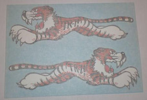"Triumph Tiger ""TR-7"" Sticker f. Front Number Plate 1970's/Pair"