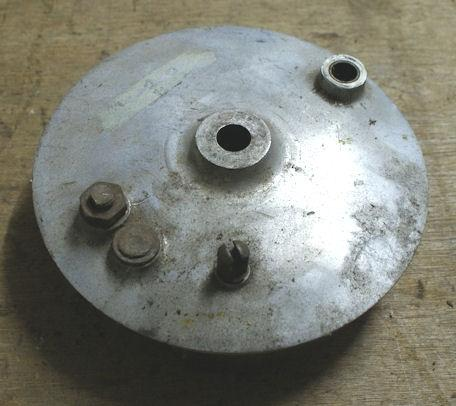 Norton Brake Plate with shoes used