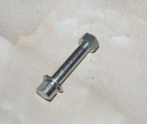 "AJS/Matchless Bolt and Nut for Anchor Plate 2 17/64"" x 3/8"" x 26TPI"