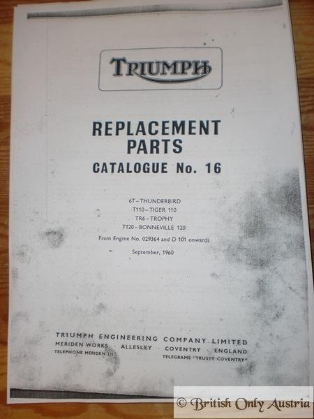 Replacements Parts Catalogue/Book No.16. 6T.T110.TR6.T120 Copy