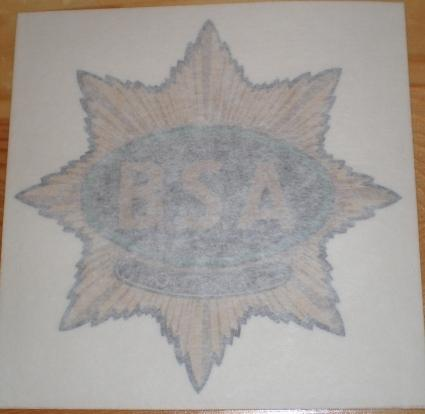 BSA Goldstar Tank Sticker 1938