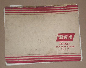 BSA Spares - Bantam Super-Model D7
