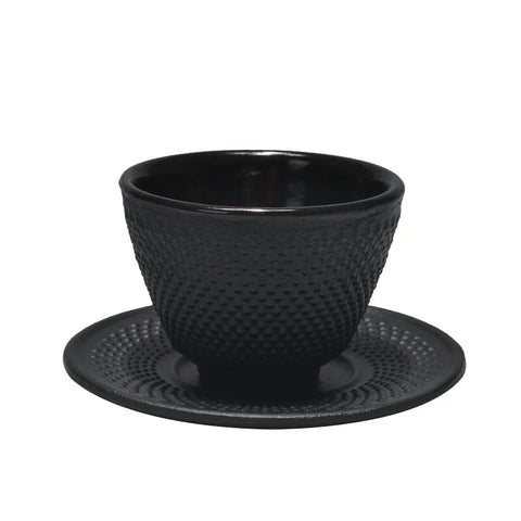 Cast Iron Tea Cup & Saucer (Tetsubin)