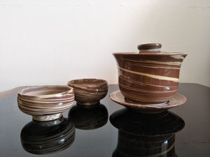 Jian Shui Zitao Gaiwan and 2 teacup set (reserved)