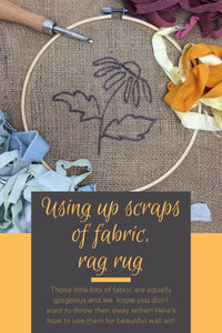 Using the scraps of fabric in a rag rug