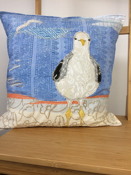 Seagull original artwork cushion