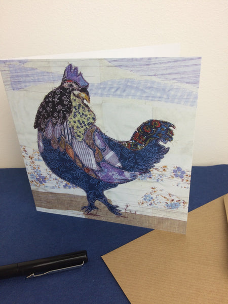 Blue Chick Greetings Card