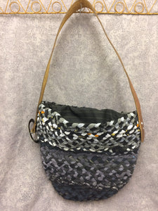 Black and grey Plaited bag